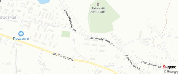 Зеленолугская улица на карте Архангельска с номерами домов