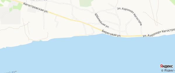 Карта поселка Кегострова города Архангельска в Архангельской области с улицами и номерами домов