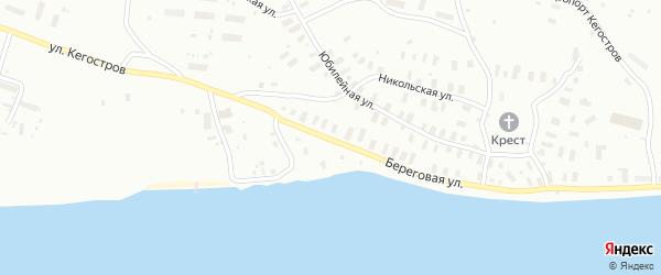 Береговая улица на карте Архангельска с номерами домов