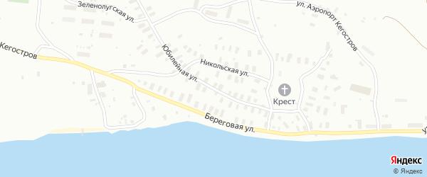 Юбилейная улица на карте Архангельска с номерами домов