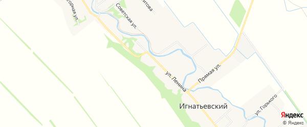 Карта Игнатьевского хутора в Адыгее с улицами и номерами домов