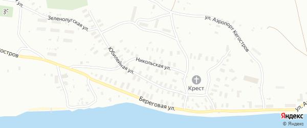 Никольская улица на карте Архангельска с номерами домов