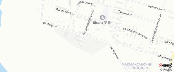Улица Фрунзе на карте Архангельска с номерами домов