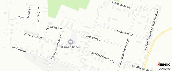 Луганская улица на карте Архангельска с номерами домов