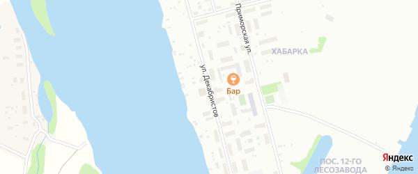 Улица Декабристов на карте Архангельска с номерами домов