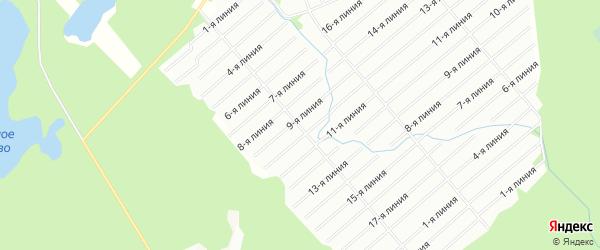 Карта садового некоммерческого товарищества Полета в Архангельской области с улицами и номерами домов