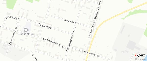 Производственная улица на карте Архангельска с номерами домов