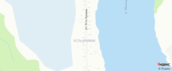 Улица Усть-Кривяк на карте Архангельска с номерами домов