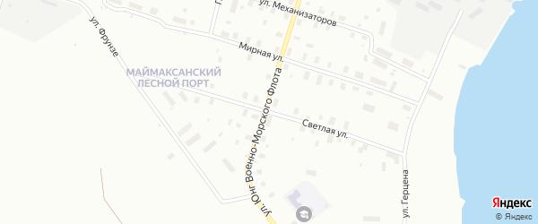 Светлая улица на карте Архангельска с номерами домов