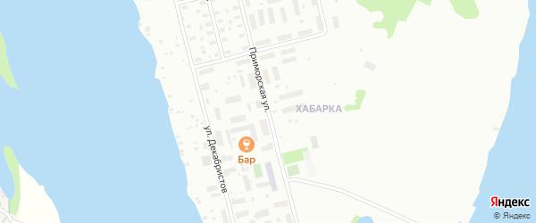 Приморская улица на карте Архангельска с номерами домов