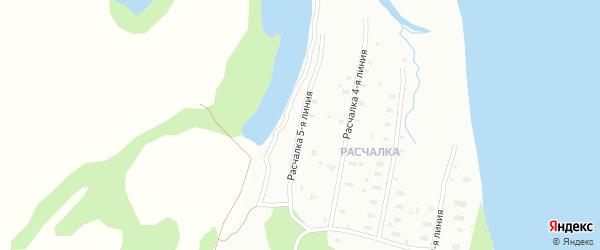 Поселок Расчалка 5 линия на карте Архангельска с номерами домов