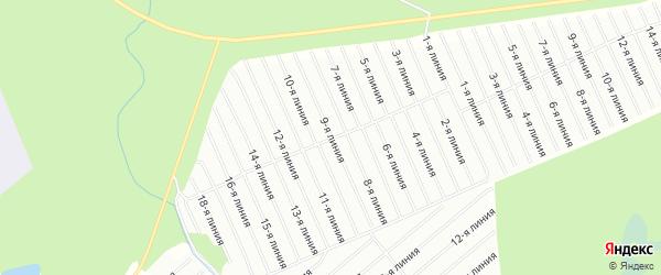 Карта садового некоммерческого товарищества Строителя в Архангельской области с улицами и номерами домов