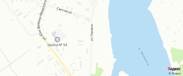 Улица Герцена на карте Архангельска с номерами домов