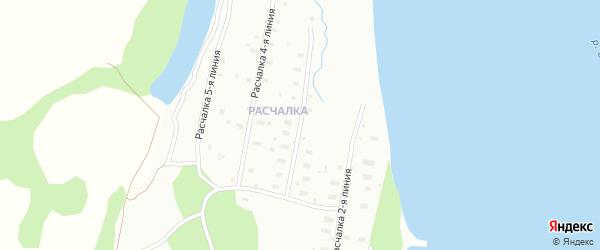 Поселок Расчалка 3 Линия на карте Архангельска с номерами домов