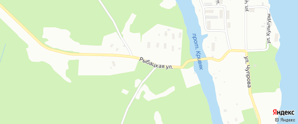 Рыбацкая улица на карте Архангельска с номерами домов