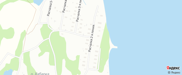 Поселок Расчалка 2 Линия на карте Архангельска с номерами домов