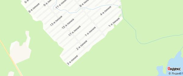 Карта садового некоммерческого товарищества Луча в Архангельской области с улицами и номерами домов