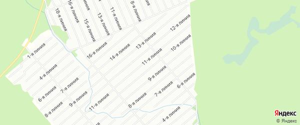 Карта садового некоммерческого товарищества Связиста в Архангельской области с улицами и номерами домов