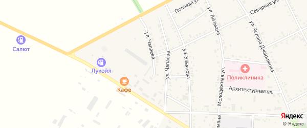 Улица Чапаева на карте аула Кошехабль с номерами домов