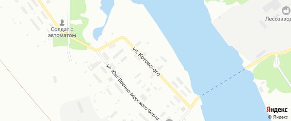 Улица Котовского на карте Архангельска с номерами домов