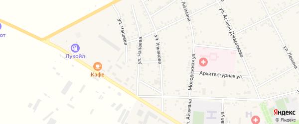 Крупский переулок на карте аула Кошехабль с номерами домов