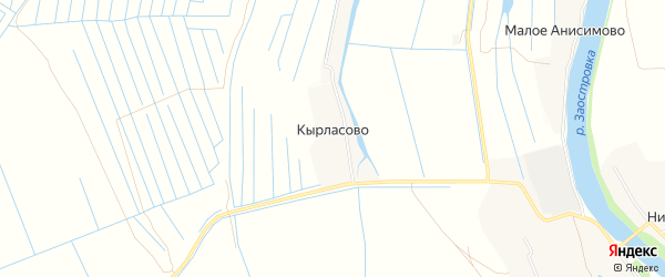 Карта деревни Кырласово в Архангельской области с улицами и номерами домов