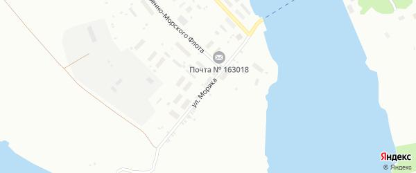 Улица Моряка на карте Архангельска с номерами домов