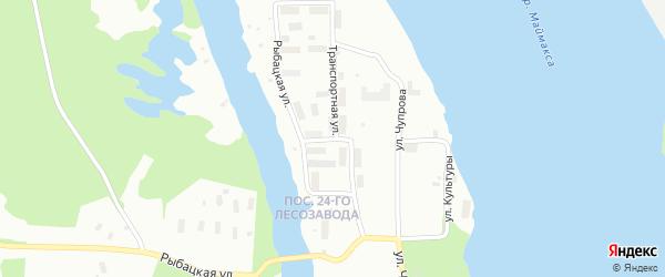 Транспортная улица на карте Архангельска с номерами домов