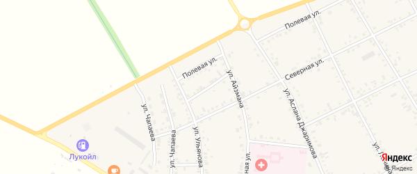Короткий переулок на карте аула Кошехабль с номерами домов