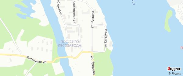 Улица Чупрова на карте Архангельска с номерами домов