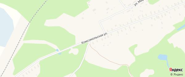 Комсомольская улица на карте поселка Самодед с номерами домов