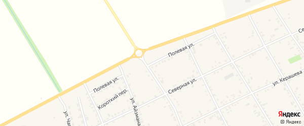 Полевая улица на карте аула Кошехабль с номерами домов