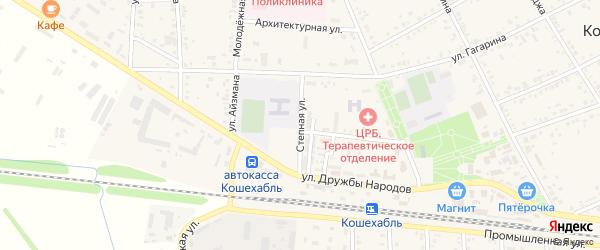 Степная улица на карте аула Кошехабль с номерами домов