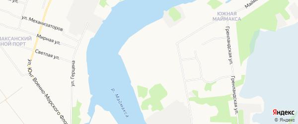 Карта населенного пункта КИЗ Лета города Архангельска в Архангельской области с улицами и номерами домов