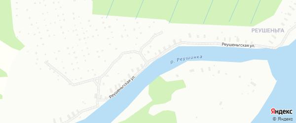 Реушеньгская улица на карте Архангельска с номерами домов