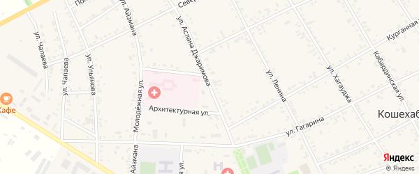 Улица Джаримова А. на карте аула Кошехабль с номерами домов