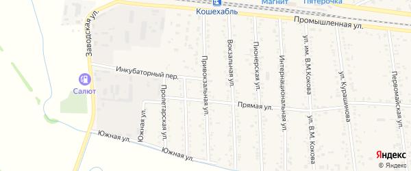 Привокзальная улица на карте аула Кошехабль с номерами домов