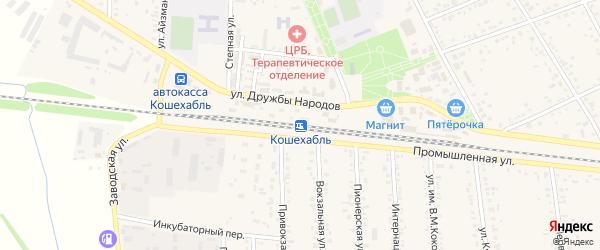 Дорога А/Д Подъезд к а. Кошехабль на карте аула Кошехабль с номерами домов