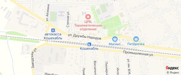 Улица Дружбы Народов на карте аула Кошехабль с номерами домов