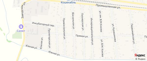 Вокзальная улица на карте аула Кошехабль с номерами домов