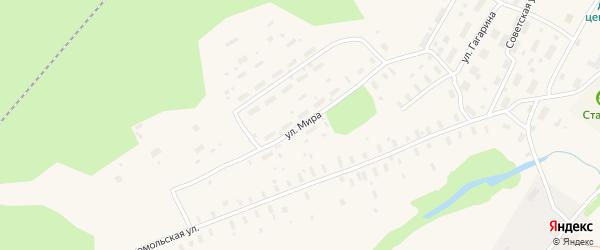 Улица Мира на карте поселка Самодед с номерами домов