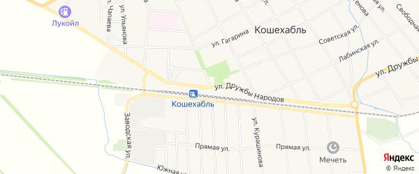 Карта аула Кошехабль в Адыгее с улицами и номерами домов