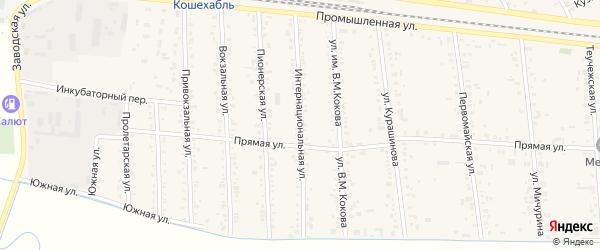 Интернациональная улица на карте аула Кошехабль с номерами домов
