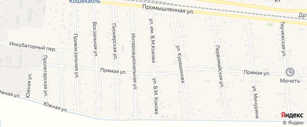 Улица им В.М.Кокова на карте аула Кошехабль с номерами домов