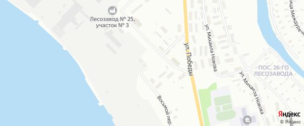 8-й переулок на карте Архангельска с номерами домов