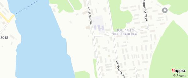 Улица Маслова на карте Архангельска с номерами домов