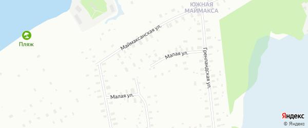 Малая улица на карте Архангельска с номерами домов