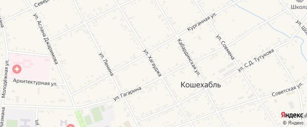Улица Хагауджа на карте аула Кошехабль с номерами домов