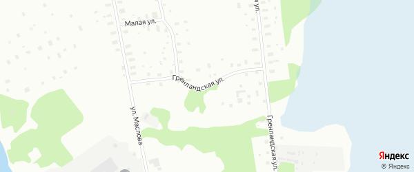 Гренландская улица на карте Архангельска с номерами домов
