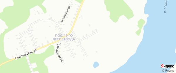 Улица Соловецкая переулок 4-й на карте Архангельска с номерами домов